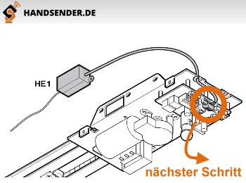 Top Anschließen der externen Empfänger an Hörmann Antrieben AP16